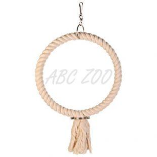 Hračka pre papagája - kruh z lana, 25 cm