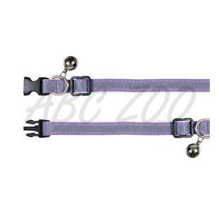Obojok pre mačky, reflexný fialový - 15 - 20 cm
