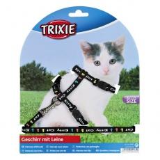 Postroj s vodítkom pre mačiatko Kitty Cat, čierny