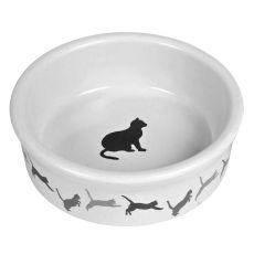 Keramická miska pre mačku s motívom - 250 ml
