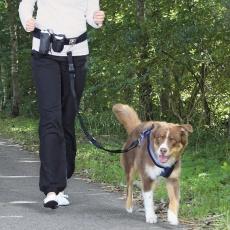Bedrový pás s vrecúškami a vodítkom na psa do 40kg
