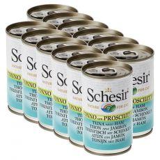 Schesir cat tuniak so šunkou v želé 12 x 140 g