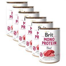 Konzerva Brit Mono Protein Beef, 6 x 400 g
