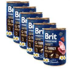 Konzerva Brit premium by Nature Turkey & Liver 6 x 400 g