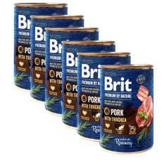 Konzerva Brit premium by Nature Pork  & Trachea 6 x 400 g