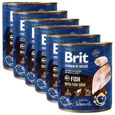 Konzerva Brit premium by Nature Fish & Fish Skin 6 x 800 g