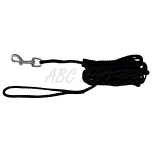 Vodítko pre psov pletené, čierne - 5m