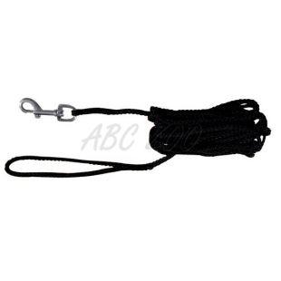 Vodítko pre psov pletené, čierne - 10m