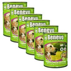 Benevo Duo kompletné krmivo pre mačky a psy 6 x 369 g