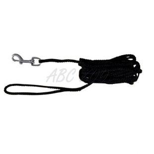 Vodítko pre psov pletené, čierne - 15m
