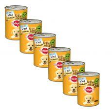 Pedigree konzerva s kuracím v želé pre šteňatá 6 x 400 g