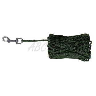 Vodítko pre psov pletené, zelené - 15m