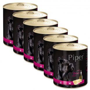 Konzerva Piper Adult s hovädzími držkami 6 x 800 g