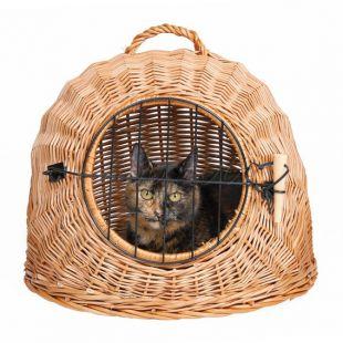 Prútený pelech pre mačky - 45 cm