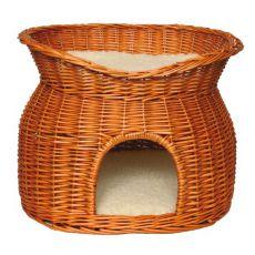 Pelech pre psy a mačky, prútený - jaskyňa
