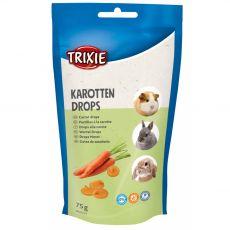 Dropsy pre hlodavce vitamínové - mrkvové, 75g