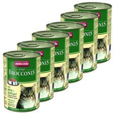 Animonda Cat BROCCONIS zverina a hydina 6 x 400 g