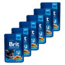 Kapsička BRIT Premium Kitten Chicken Chunks 6 x 100 g