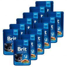 Kapsička BRIT Premium Kitten Chicken Chunks 12 x 100 g