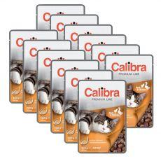CALIBRA Cat Adult kačacie a kuracie kúsky v omáčke 12 x 100 g