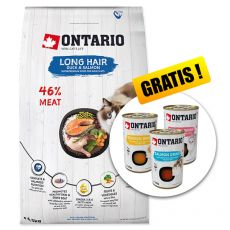 Ontario Cat Long Hair Duck & Salmon 6,5 kg