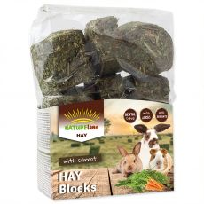 NATUREland HAY Blocks with carrot 600 g