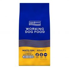 FISH4DOGS Working Dog Food White Fish Adult Small 15 kg