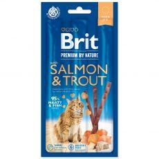 Brit Premium Cat Sticks Salmon & Trout 3 ks