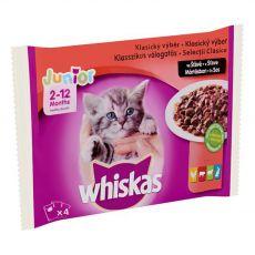 Whiskas Junior Klasický výber v šťave 4 x 100 g