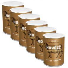 LOUIE Hovädzie a bravčové s ryžou 6 x 1200 g