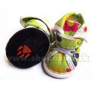 Topánky pre psov arabské látkové - zelené (4ks) - veľ.1