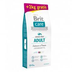 Brit Care Grain-free Adult Salmon & Potato 12 kg + 2 kg GRATIS