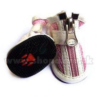 Topánočky pre psa vzdušné - ružové (4ks) - veľ.2