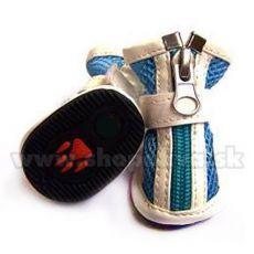 Topánočky pre psa vzdušné - modré (4ks) - veľ.4