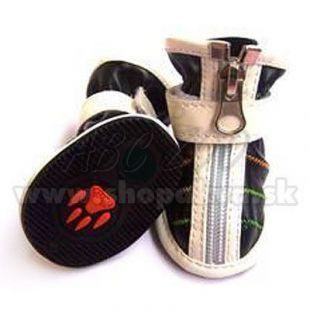 Topánky pre psa na zips čierne (4ks) - veľ.3