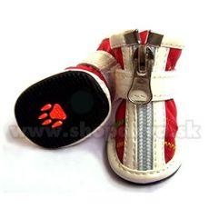 Topánky pre psa na zips červené (4ks) - veľ.4