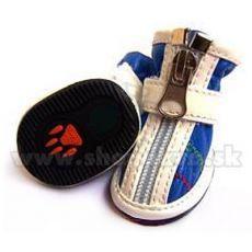 Topánky pre psa na zips modré (4ks) - veľ.2