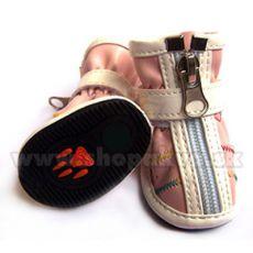 Topánky pre psa na zips ružové (4ks) - veľ.3