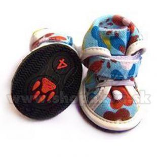 Topánky pre psov arabské látkové - modré (4ks) - veľ.2