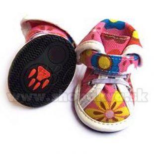Topánky pre psov arabské látkové - ružové (4ks) - veľ.3