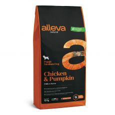 Alleva NATURAL dog chicken & pumpkin puppy medium 12 kg