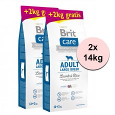 Brit Care Adult Large Breed Lamb & Rice 2 x 12 kg + 4 kg GRATIS