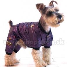 Overal na zimu pre psa - fialový, XS
