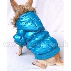 Vetrovka pre psa - pérová, modrá, XS
