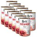 Konzerva Brit Paté & Meat Beef 12 x 400 g