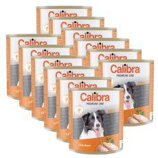Konzerva CALIBRA Premium Adult - kura, 12 x 800 g
