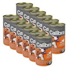 Konzerva Calibra Dog Adult morka, kura a cestoviny v želé, 12 x 1240g
