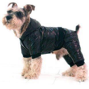 Bunda pre psa - nepremokavá, čierna, XS