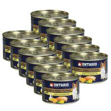 Konzerva ONTARIO Teľacie so sladkým zemiakom a ľanovým olejom – 12 x 200g
