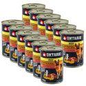 Konzerva ONTARIO pre psa, hovädzie, zemiaky a olej - 12 x 400g